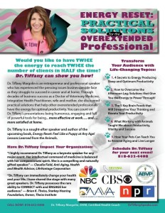 Dr. Tiffany Margolin One Sheet